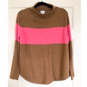 Old Navy Tan & Pink Stripe Sweater Size M / L